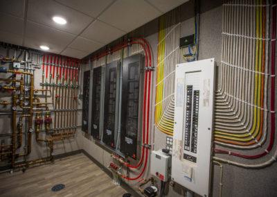 plumbing in modern home basement