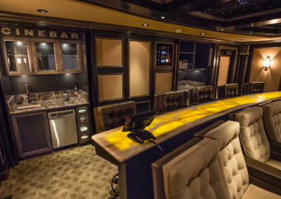 home theatre and bar in entertainment room
