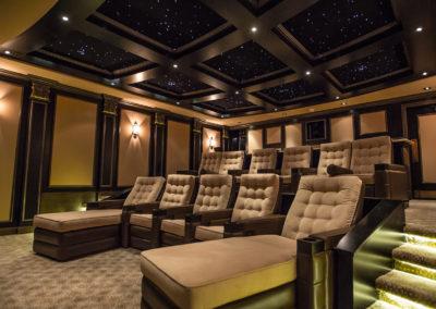 Theatre room in amazing home