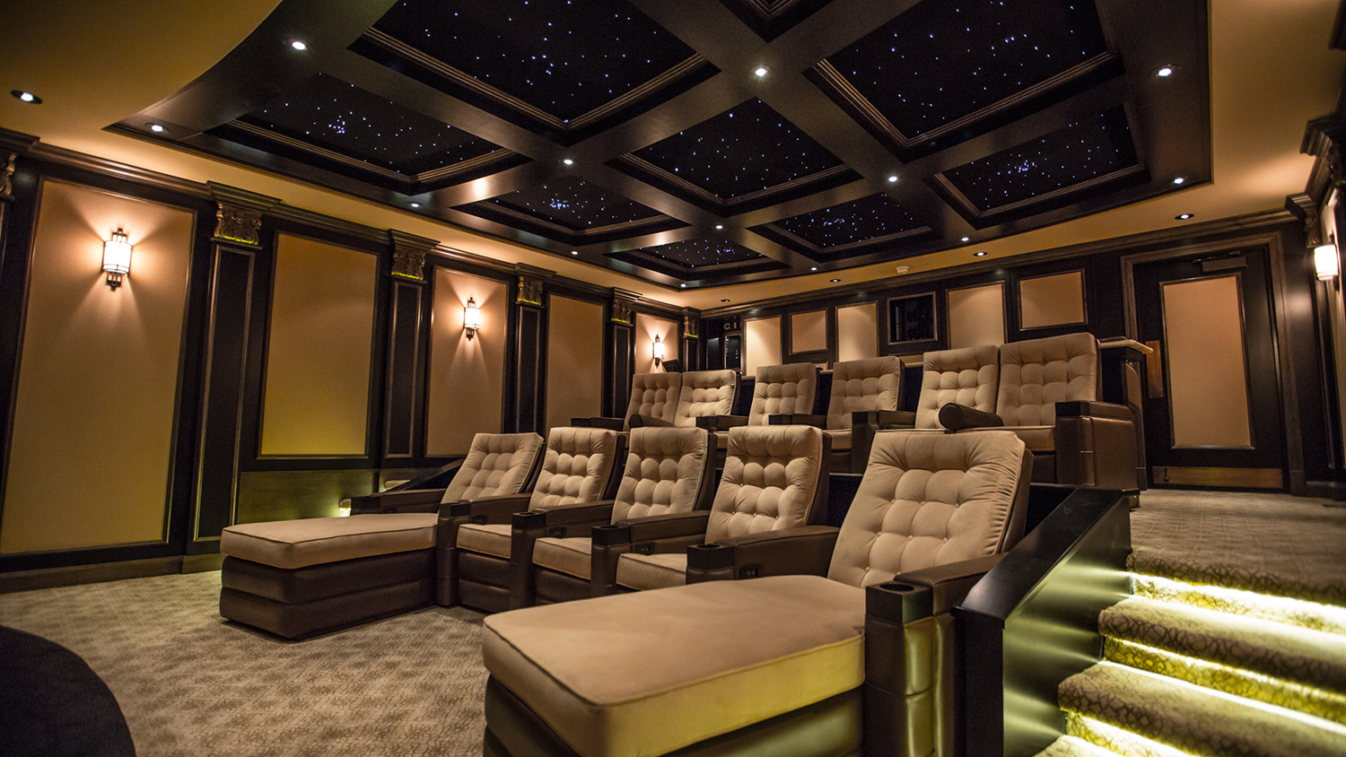 Theatre room in amazing home