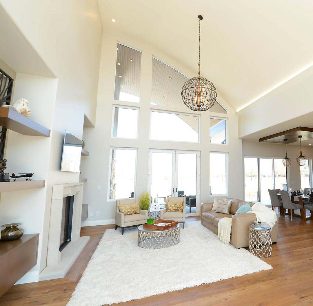 A huge spacious modern living room