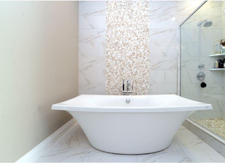 modern bath tub and shower